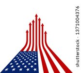 creative american flag with red ... | Shutterstock .eps vector #1371004376