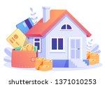 home loan concept  rent  ... | Shutterstock .eps vector #1371010253
