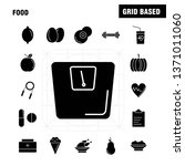 food solid glyph icon for web ...