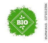 bio label. natural organic... | Shutterstock .eps vector #1371013586