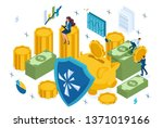 isometric reliable protection... | Shutterstock .eps vector #1371019166