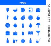 food  solid glyph icons set for ...