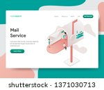 landing page template of mail... | Shutterstock .eps vector #1371030713