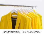 yellow coat clothing with... | Shutterstock . vector #1371032903