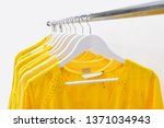 fashionable yellow clothing... | Shutterstock . vector #1371034943