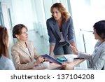 image of four businesswomen... | Shutterstock . vector #137104208