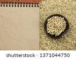 croup green buckwheat on a dark ... | Shutterstock . vector #1371044750