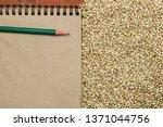 croup green buckwheat on a dark ... | Shutterstock . vector #1371044756