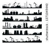 industrial factories panorama... | Shutterstock .eps vector #1371045440