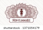 red abstract rosette with girl... | Shutterstock .eps vector #1371054179