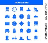 travelling solid glyph icon for ...