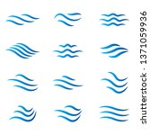 water wave icon set. vector... | Shutterstock .eps vector #1371059936