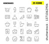 home wares line icons set for...