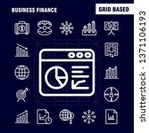 business finance line icon pack ...
