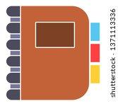 diary  planner or notebook... | Shutterstock .eps vector #1371113336