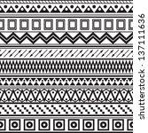 tribal striped seamless pattern.... | Shutterstock .eps vector #137111636