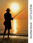 Fisherman Silhouette On The...