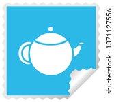 square peeling sticker cartoon... | Shutterstock . vector #1371127556