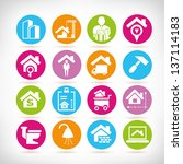 real estate management icon set | Shutterstock .eps vector #137114183