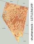 high detailed nevada physical... | Shutterstock .eps vector #1371156149