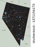 high detailed nevada road map... | Shutterstock .eps vector #1371156173