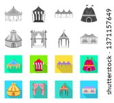 isolated object of roof and...   Shutterstock .eps vector #1371157649