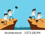 businessman and solution | Shutterstock .eps vector #137118194