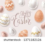 happy easter greeting card...   Shutterstock .eps vector #1371182126