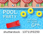 pool party invitation with top... | Shutterstock .eps vector #1371193250