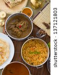 biryani mutton rice with...   Shutterstock . vector #137121803