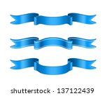 blue vector ribbons set... | Shutterstock .eps vector #137122439