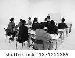 multi ethnic seminar training... | Shutterstock . vector #1371255389
