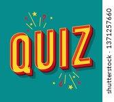 quiz vintage 3d vector... | Shutterstock .eps vector #1371257660