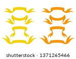 yellow and orange ribbons | Shutterstock .eps vector #1371265466