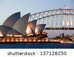 sydney   february 6  the sydney ...   Shutterstock . vector #137128250