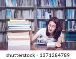 young student concern about... | Shutterstock . vector #1371284789