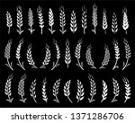 set of chalk hand drawn wheat... | Shutterstock .eps vector #1371286706