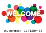 welcome word with transparent... | Shutterstock .eps vector #1371289496