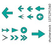 arrow icon set isolated on... | Shutterstock .eps vector #1371291560