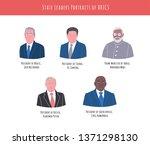 april  2019  vector portraits... | Shutterstock .eps vector #1371298130