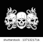 tattoo old school drawing | Shutterstock .eps vector #1371321716