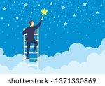 Businessman Climbed High Up...