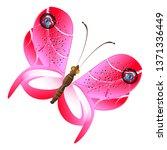 beautiful pink butterflies... | Shutterstock .eps vector #1371336449
