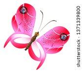 beautiful pink butterflies... | Shutterstock . vector #1371339800
