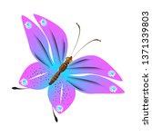 beautiful pink butterflies... | Shutterstock . vector #1371339803