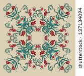 ornamental round lace pattern ... | Shutterstock .eps vector #137134094