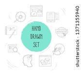 set of web design icons line... | Shutterstock .eps vector #1371355940