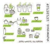 zero waste tips concept... | Shutterstock .eps vector #1371357119