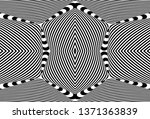 seamless pattern with hypnotic... | Shutterstock .eps vector #1371363839