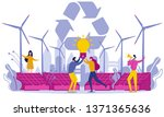 flat green energy and secondary ... | Shutterstock .eps vector #1371365636